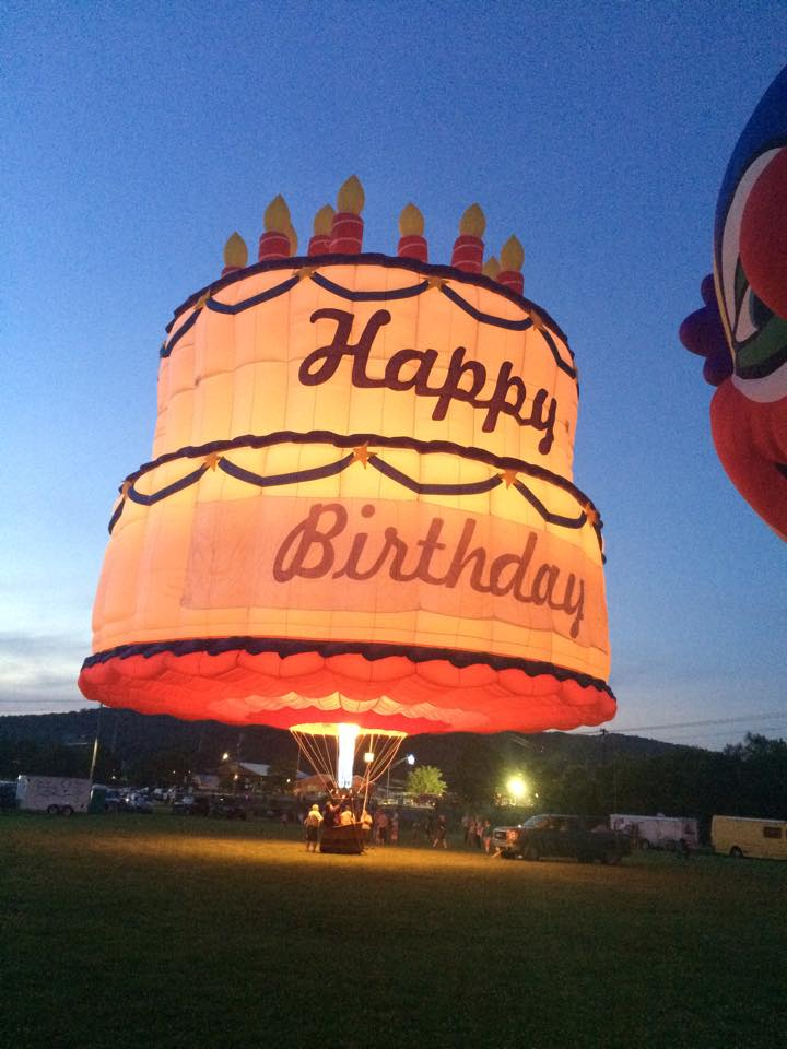 The Birthday Cake Hot Air Balloon